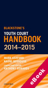 Cover of Blackstone's Youth Court Handbook 2014-2015 (eBook)