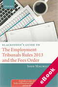 Cover of Blackstone's Guide to the Employment Tribunals Rules 2013 and the Fees Order (eBook)