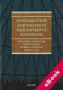 Cover of Construction Adjudication and Payments Handbook (eBook)