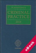 Cover of Blackstone's Criminal Practice 2014 (eBook)