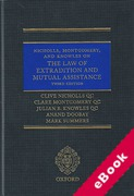 Cover of The Law of Extradition and Mutual Assistance (eBook)