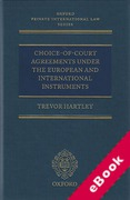 Cover of Choice-of-Court Agreements Under the European and International Instruments: The Revised Brussels I Regulation, the Lugano Convention, and the Hague Convention (eBook)