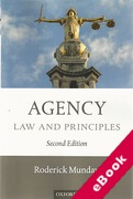 Cover of Agency: Law and Principles (eBook)