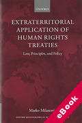 Cover of Extraterritorial Application of Human Rights Treaties: Law, Principles, and Policy (eBook)