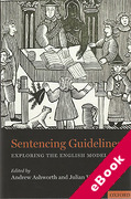 Cover of Sentencing Guidelines: Exploring the English Model (eBook)
