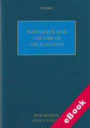 Cover of Insurance and the Law of Obligations (eBook)