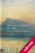 Cover of The Sovereignty of Law: Freedom, Constitution and Common Law (eBook)