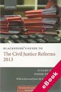 Cover of Blackstone's Guide to The Civil Justice Reforms 2013 (eBook)
