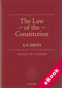 Cover of A.V. Dicey Volume 1: The Law of the Constitution (eBook)