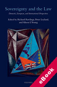 Cover of Sovereignty and the Law: Domestic, European and International Perspectives (eBook)