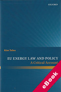 Cover of EU Energy Law and Policy: A Critical Account (eBook)