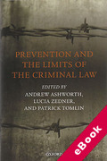 Cover of Prevention and the Limits of the Criminal Law (eBook)