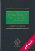 Cover of Procurement of Utilities: Law and Practice (eBook)