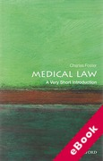 Cover of Medical Law: A Very Short Introduction (eBook)