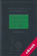 Cover of Oxford Principles of English Law: English Private Law (eBook)
