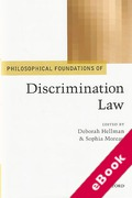 Cover of Philosophical Foundations of Discrimination Law (eBook)