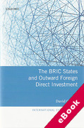 Cover of The BRIC States and Outward Foreign Direct Investment (eBook)
