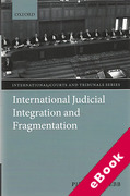 Cover of International Judicial Integration and Fragmentation (eBook)