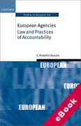 Cover of European Agencies: Law and Practices of Accountability (eBook)