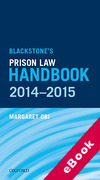 Cover of Blackstone's Prison Law Handbook 2014-2015 (eBook)