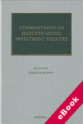 Cover of Commentaries on Selected Model Investment Treaties (eBook)