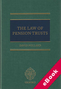 Cover of The Law of Pension Trusts (eBook)