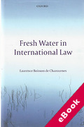 Cover of Fresh Water in International Law (eBook)