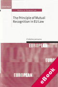 Cover of The Principle of Mutual Recognition in the EU (eBook)