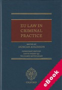 Cover of EU Law in Criminal Practice (eBook)