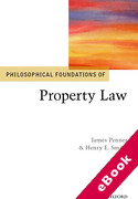 Cover of Philosophical Foundations of Property Law (eBook)