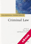 Cover of Philosophical Foundations of Criminal Law (eBook)
