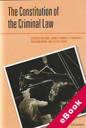 Cover of The Constitution of the Criminal Law (eBook)