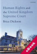 Cover of Human Rights and the UK Supreme Court (eBook)