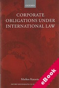 Cover of Corporate Obligations Under International Law (eBook)