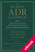 Cover of The Jackson ADR Handbook (eBook)