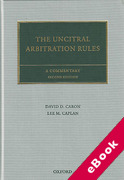 Cover of The UNCITRAL Arbitration Rules: A Commentary (eBook)