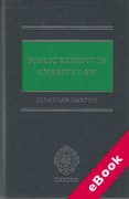 Cover of Public Benefit in Charity Law: Principles and Practice (eBook)