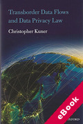 Cover of Transborder Data Flow Regulation and Data Privacy Law (eBook)