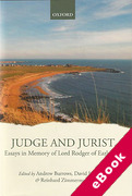 Cover of Judge and Jurist: Essays in Memory of Lord Rodger of Earlsferry (eBook)