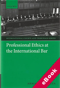 Cover of Professional Ethics at the International Bar (eBook)