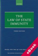 Cover of The Law of State Immunity (eBook)