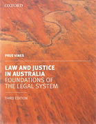 Cover of Law and Justice in Australia: Foundations of the Legal System
