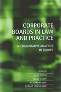 Cover of Corporate Boards in European Law: A Comparative Analysis