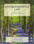 Cover of Environmental Law: Text, Cases & Materials