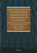 Cover of Construction Adjudication and Payments Handbook