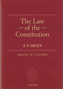 Cover of A.V. Dicey Volume 1: The Law of the Constitution