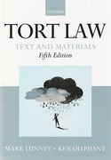 Cover of Tort Law: Text and Materials