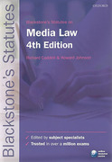 Cover of Blackstone's Statutes on Media Law