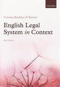 Cover of English Legal System in Context