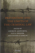 Cover of Prevention and the Limits of the Criminal Law